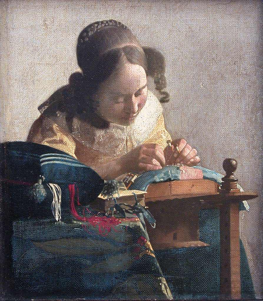 Johannes Vermeer's Lacemaker (Richelieu Wing, Level 2)