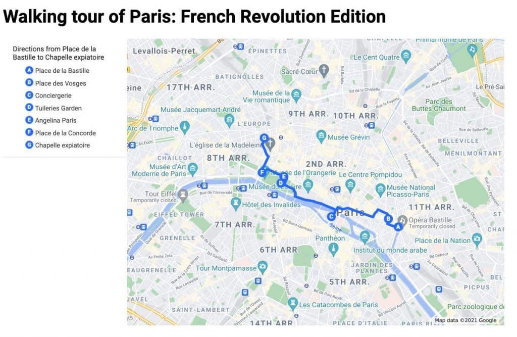 French revolution walking tour Paris