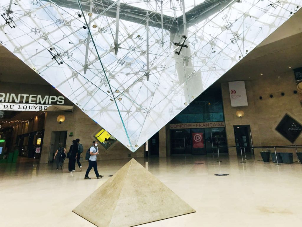 Upside down glass pyramid at the Louvre