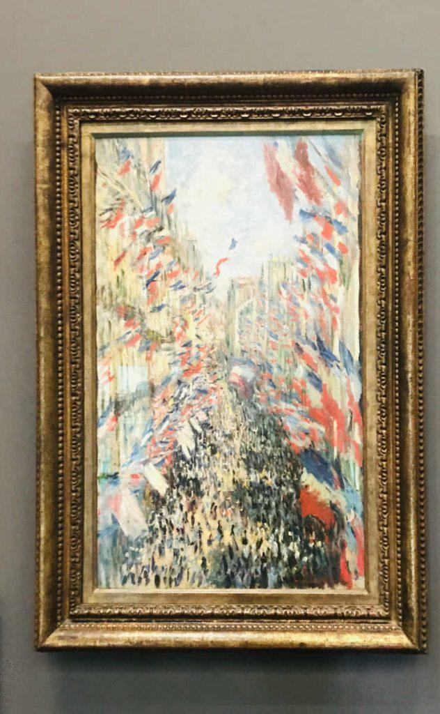 La rue Montorgueil, à Paris by Claude Monet