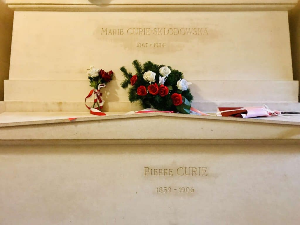 Graves of Marie Curie-Sklodowska and Pierre Curie