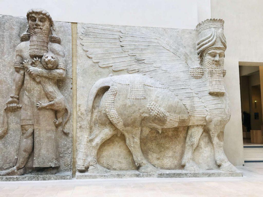 Lamassus, Mesopotamia (Richelieu Wing, Level 0)