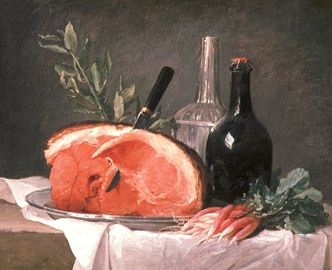 Still life with ham by Anne Vallayer-Coste