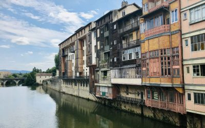 Castres and its Colorful houses on the River Agout (Occitanie)
