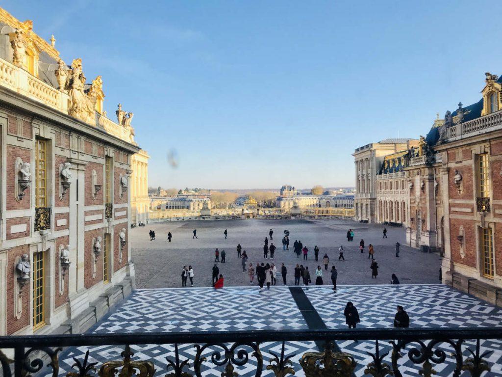 Inner courtyard of Chateau de Versailles