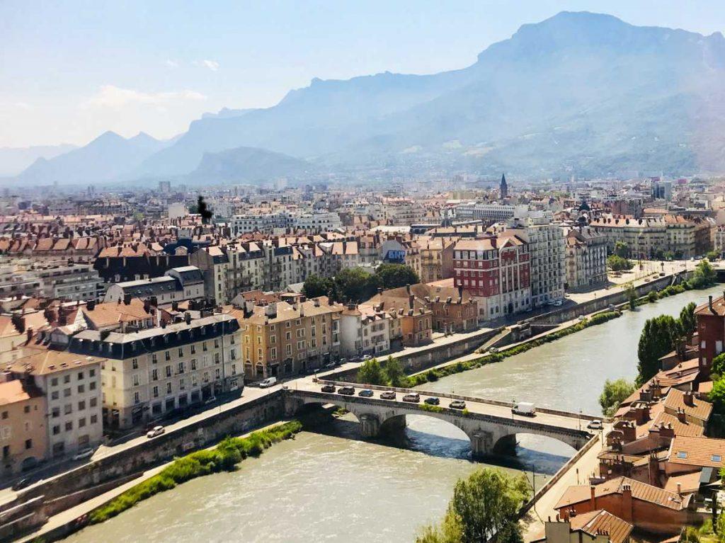 Grenoble view from telepherique