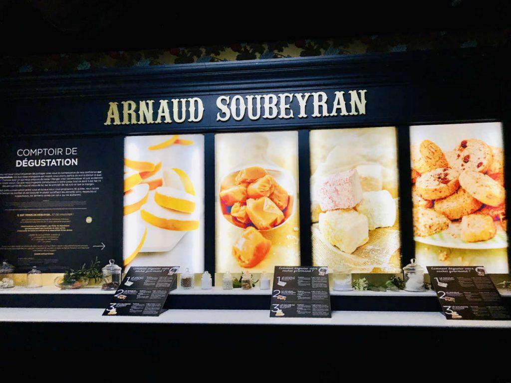 Tasting counter at Fabrique Arnaud Soubeyran