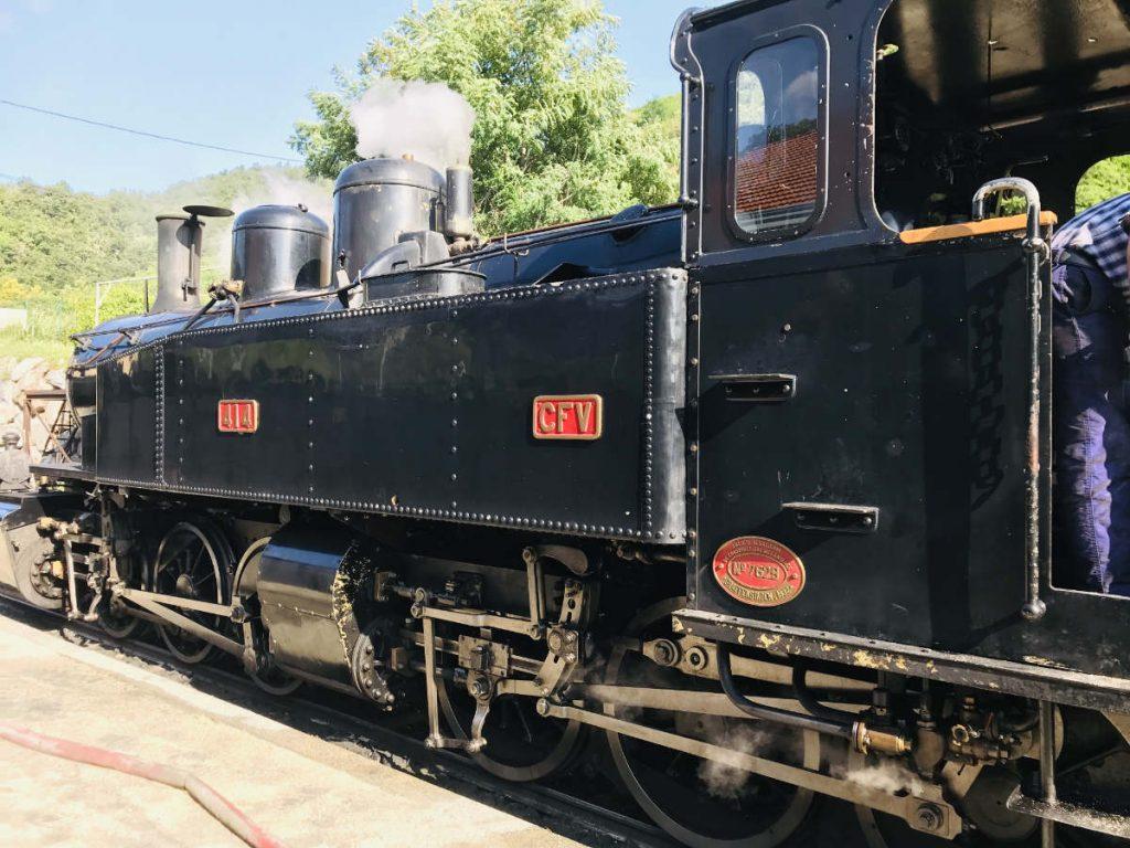 historic old French train de l'ardeche