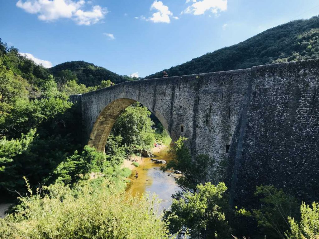 bridge over Gorges Doux Valley