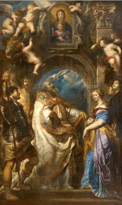 Pope Saint Grégoire by Peter Paul Rubens