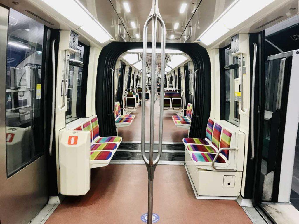 Inside the Paris metro line 1