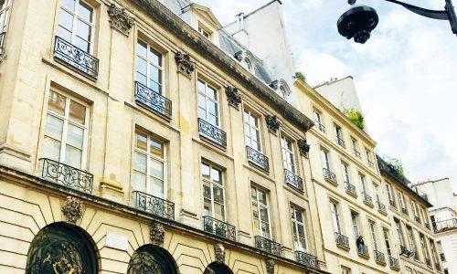 Beautiful Paris apartment building